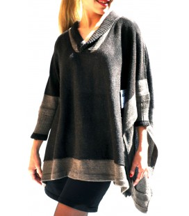 Poncho Pullover - Alpakawolle